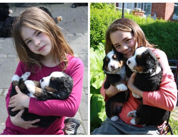 Børnebørnene med Quincy og Qismat
