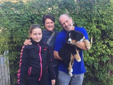Familien Hermann Magaard henter Romeo 07.09.2015